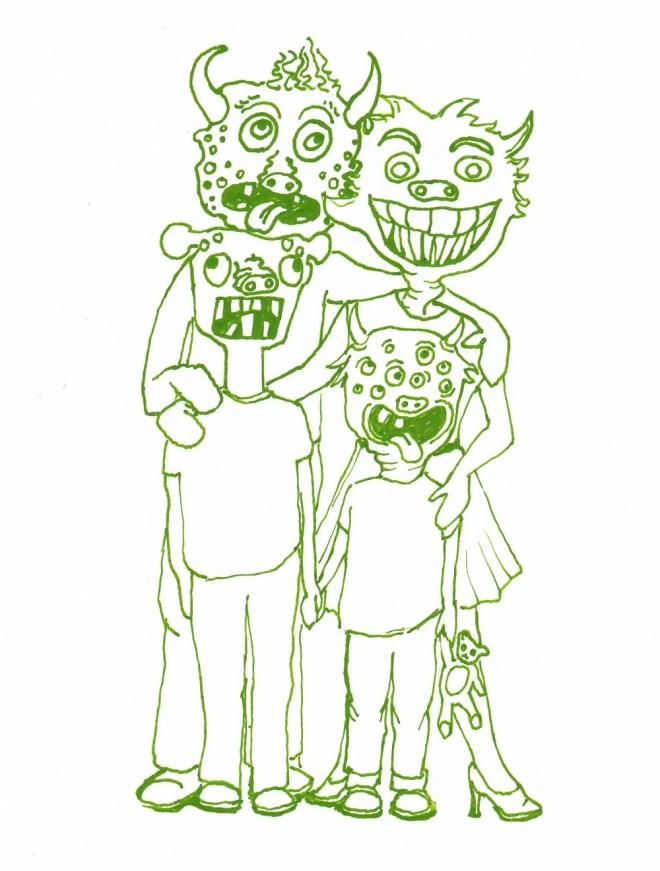 Meine Monsterfamily