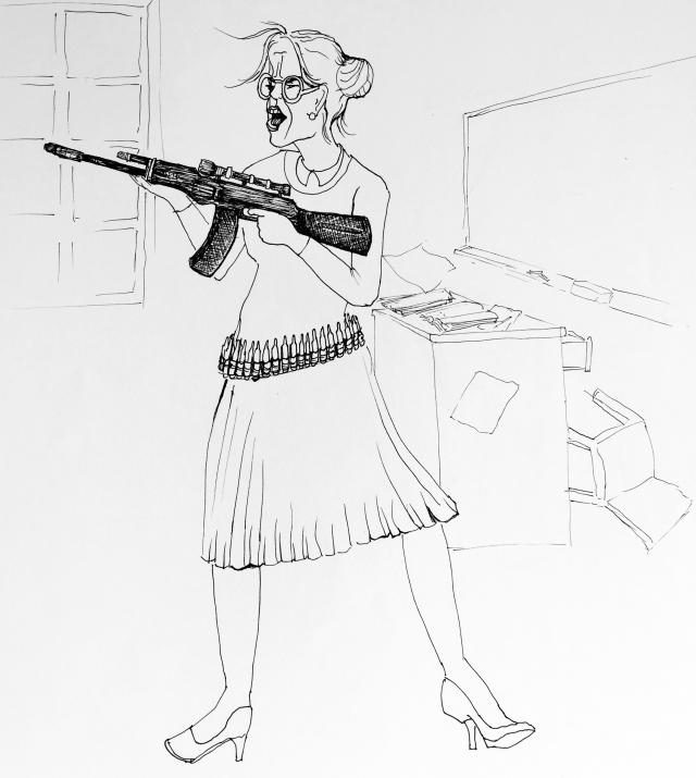 highly trained, gun adept teacher