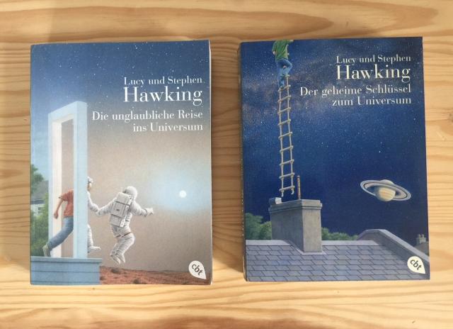 Lucy und Stephen Hawking